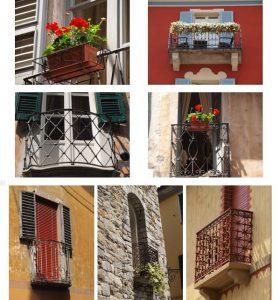 fotografia balconi finestre cannobio